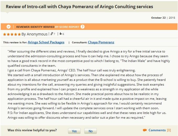 intro call with chaya